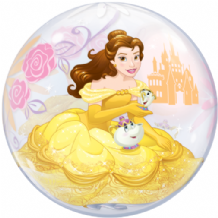 "Princess Belle Bubble Balloon (22"") 1pc"
